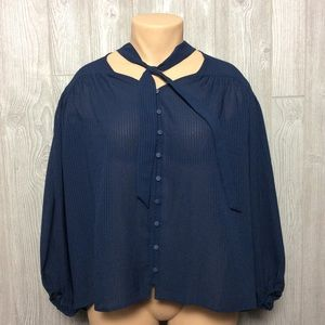 NWT TIME AND TRU Blue Blouse PLUS SIZE VARIOUS